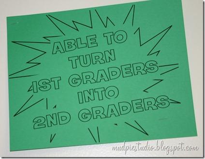 Teacher Appreciation Week - Superhero Day - mudpiestudio@blogspot.com