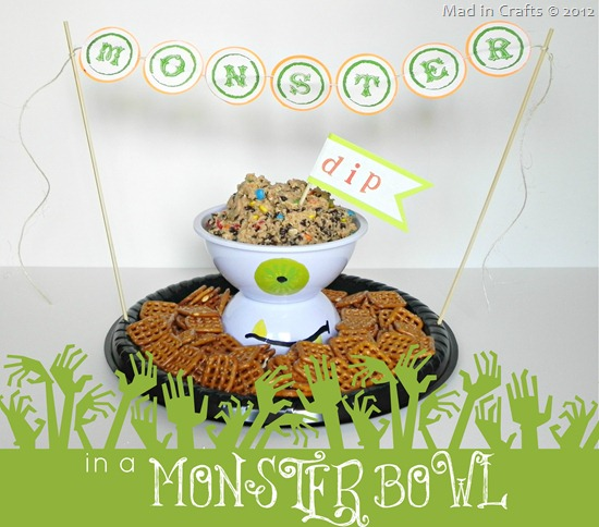 monster dip in a monster bowl