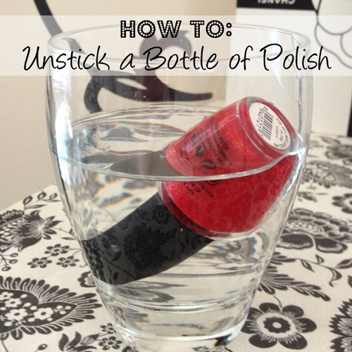 How To Unstick a Bottle of Polish