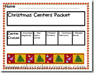 Free Christmas Centers for Primary Students