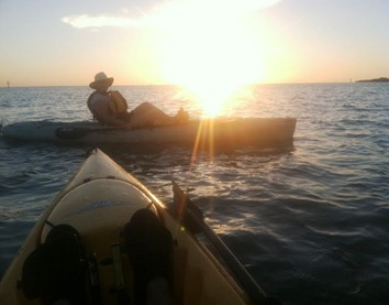 sunset with pam in kayak2