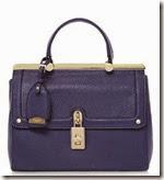 Dune Blue Padlock Detail Handbag