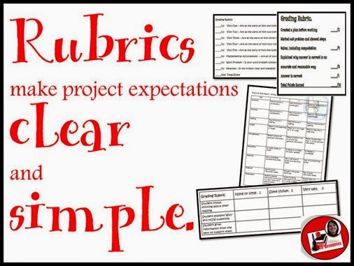 Rubrics make project expectations clear and simple.  Stop by Raki's Rad Resources to read arguments about why this is true.
