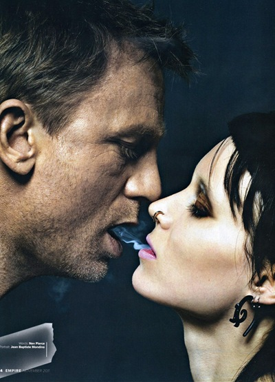 Daniel Craig and Rooney Mara by Jean-Baptiste Mondino for EMPIRE, November 2011