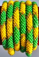 rollover bracelets green yellow