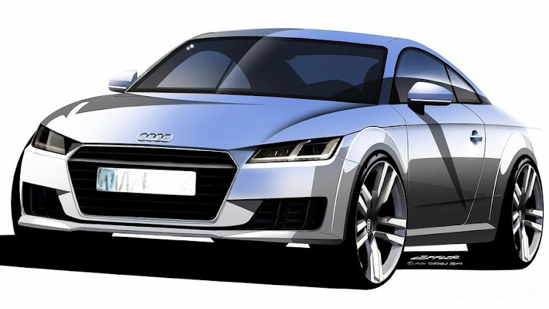 Breaking First Official Photo of New 2015 Audi TT Coupe