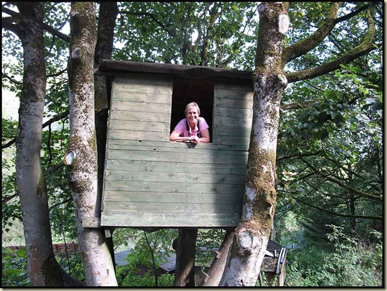 Anne seeks refuge in a tree house