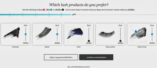 Wantable Lash Product Preferences