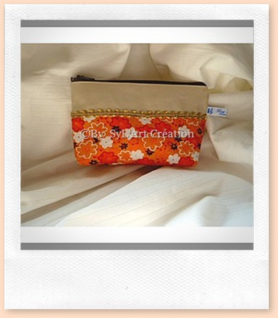 Trousse Flowers Orange 1