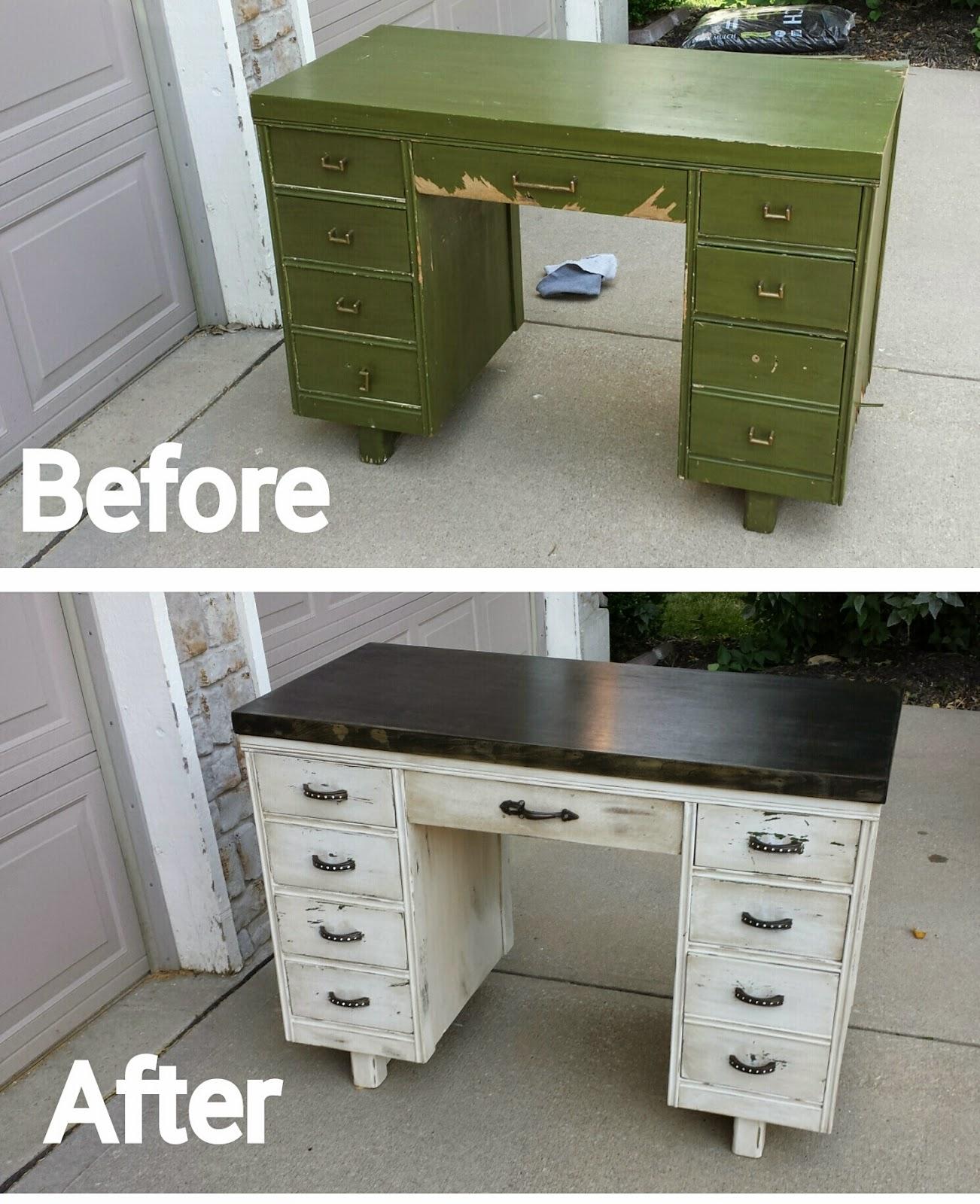 Desk Into Makeup Vanity Makeover