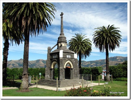 Akaroa war memorial suffered damage in the 2010 earthquakes and was partly dismantled by the Army for future repairs.