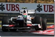 Perez nelle qualifiche del gran premio d'Ungheria 2012