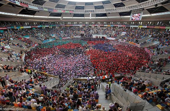 XXIIIe Concurs de Castells a Tarragona.Tarraco Arena Placa (antiga placa de braus).Tarragona, Tarragones, Tarragona