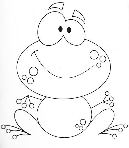 Dibujo de un sapo para niños - Imagui