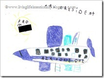 American Symbol: Air Force One (Goofy drew a picture for President)