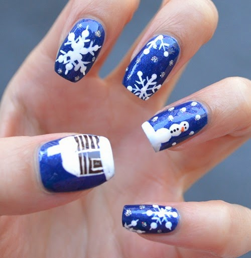 FASHION Magazine Holiday Nail Art
