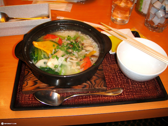 delicious soup after star fire at 7am in Ginza, Tokyo, Japan