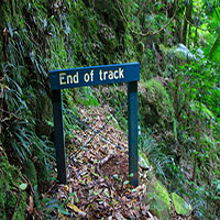 The end of the track.
