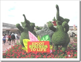 Florida vacation Epcot topiary welcome to Epcot Elephants1