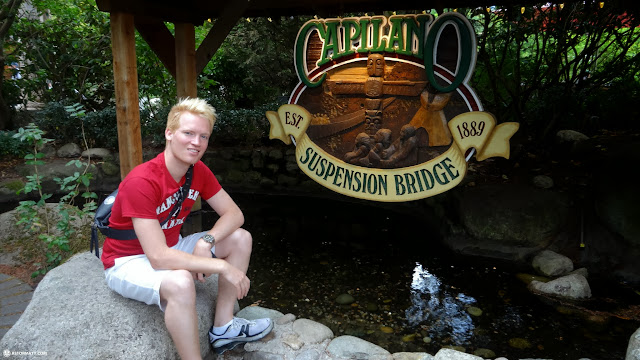 matt at the Capilano Suspension Bridge in North Vancouver, British Columbia, Canada