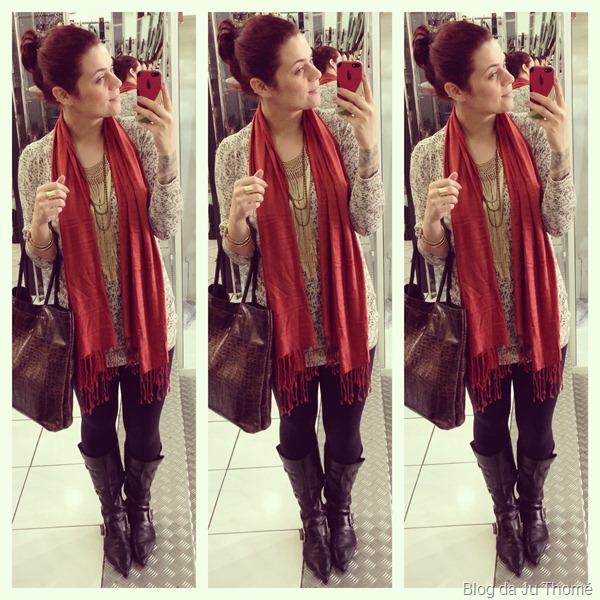 look cardigã, bota montaria, legging e cachecol (2)