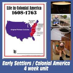 4 week Colonial America Unit