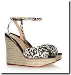Charlotte Olympia Leopard Wedge