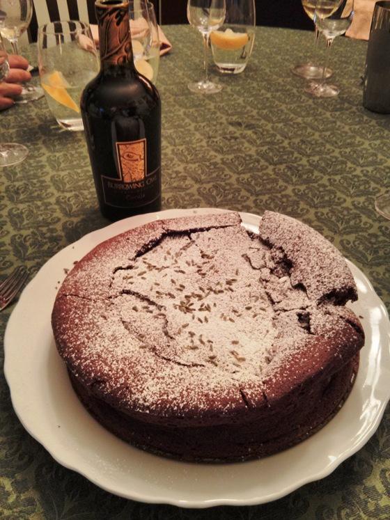 Burrowing Owl Coruja & Flourless Chocolate Cake