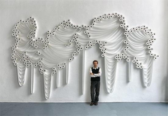Arte com papel higiênico Sakir Gökcebag (1)