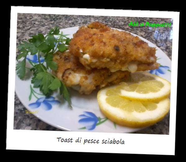 Immagine del piatto toast di pesce sciabola