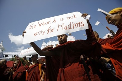 Buddhists in Burma