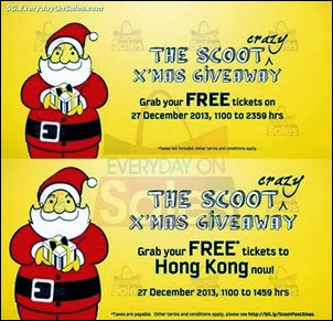 Scoot FREE Air Fare Giveaways Singapore Jualan Gudang EverydayOnSales Offers Buy Sell Shopping
