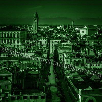 Visión nocturna en fotografía con Photoshop - Imagen después de aplicar filtro Granulado