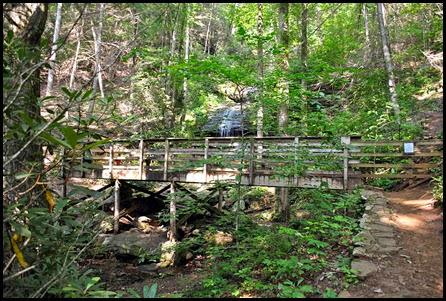 17d - Sunday - DeSoto Falls - approaching the upper falls