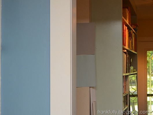 color choices with kitchen and bookshelves