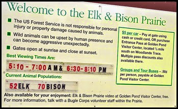 06 - Elk and Bison Prairie Sign