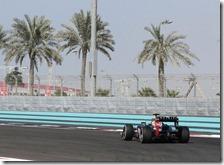 Vettel nelle prove libere di Abu Dhabi 2012