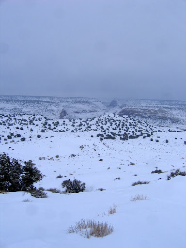 View from the Sid's Mountain trailhead toward Saddle Horse Canyon