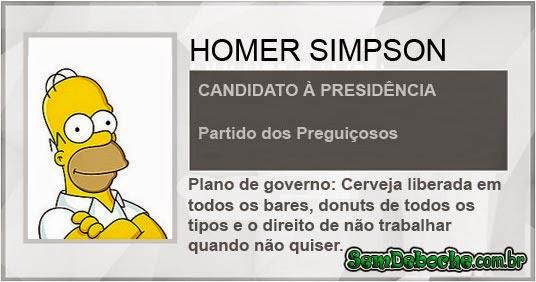 CANDIDATO: HOMER SIMPSON
