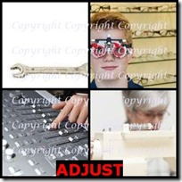 ADJUST- 4 Pics 1 Word Answers 3 Letters