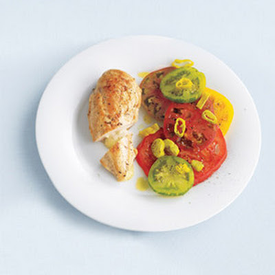 Havarti-Stuffed Chicken With Tomato Salad