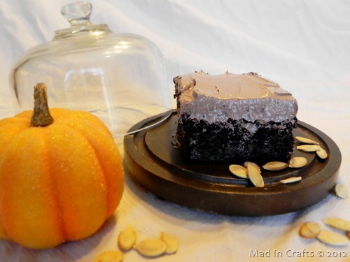 Chocolate Pumpkin Wacky Cake Thanksgiving Dessert