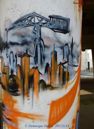graff Nantes quartier Mangin la grue titan grise