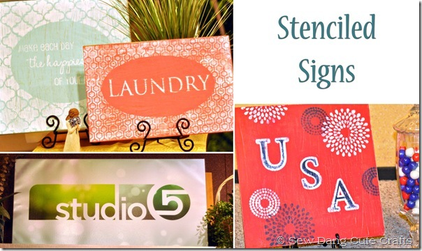 Stenciled Signs
