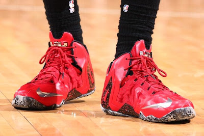 lebron james nba 140520 mia at ind 09 game 2 King James Wears New LeBron 11 Elite PE For a Little Bit