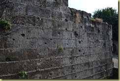 Walls with artillery holes