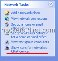 Windows XP Icons for UPnP device