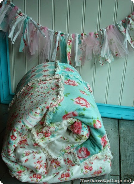 Sweet Quilt & Garland{NorthernCottage}