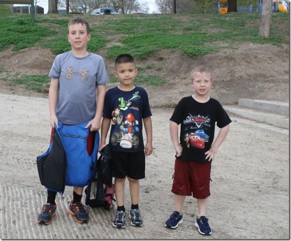 Zach, Derrick, Zane Wet to the bones Mar 13 2012