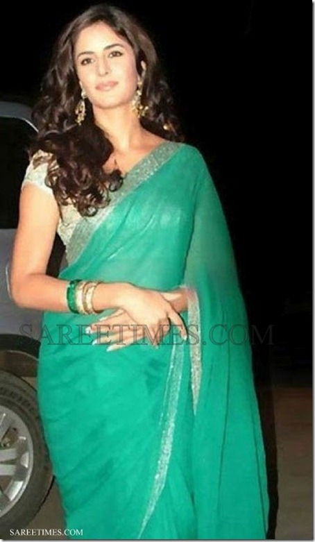 Katrina_Kaif_Green_Saree